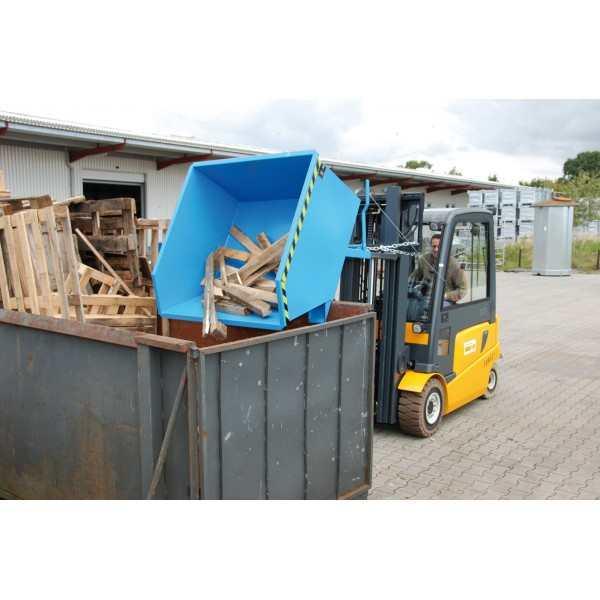 GU Kantelbak Lage Bouwhoogte 500 liter, cap1000kg